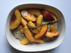 Pork and peaches