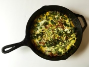 Breakfast Frittata with kale, mushrooms, and zucchini noodles
